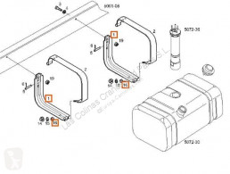Pièces détachées PL Iveco Daily Fixations Soporte Delantero Deposito Combustible Soporte Delantero Deposito Combustible II 35 C 12 , pour camion II 35 C 12 , 35 S 12 occasion