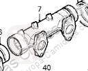 DAF Collecteur Colector Escape XF 105 FA 105.460 pour camion XF 105 FA 105.460 truck part used