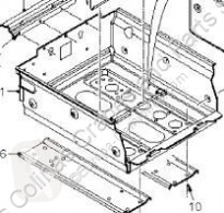 Repuestos para camiones DAF Boîtier de batterie Soporte Baterias XF 105 FA 105.460 pour camion XF 105 FA 105.460 usado