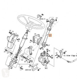 Direção Iveco Eurotech Boîtier de direction Columna Direccion (MP) FSA (440 pour camion (MP) FSA (440 E 43) [10,3 Ltr. - 316 kW Diesel]