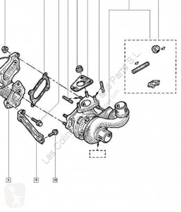 Reservdelar lastbilar Renault Turbocompresseur de moteur Turbo MASTER II Caja/Chasis (ED/HD/UD) 2.2 dCI 90 pour camion MASTER II Caja/Chasis (ED/HD/UD) 2.2 dCI 90 begagnad