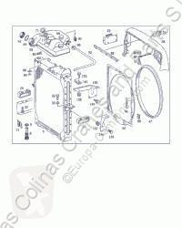 OM cooling system Radiateur de refroidissement du moteur Radiador Mercedes-Benz MK / SK 441 LA 2527 BM 653 6X4 [11,0 pour camion MERCEDES-BENZ MK / SK 441 LA 2527 BM 653 6X4 [11,0 Ltr. - 249 kW V6 Diesel ( 441 LA)]