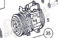 Pièces détachées PL Compresseur de climatisation Compresor Aire Acondicionado Mercedes-Benz CLASE G (W461) 290 GD pour camion MERCEDES-BENZ CLASE G (W461) 290 GD/G 290 D (461.337, 461.338) occasion