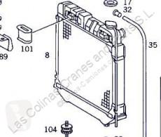 Refroidissement Radiateur de refroidissement du moteur Radiador Mercedes-Benz CLASE G (W461) 290 GD/G 290 D (461.337, 4 pour camion MERCEDES-BENZ CLASE G (W461) 290 GD/G 290 D (461.337, 461.338)