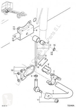 DAF stabilizer Barre stabilisatrice Barra Estabilizadora Eje Delantero Serie LF55.XXX desde 06 F pour camion Serie LF55.XXX desde 06 Fg 4x2 [6,7 Ltr. - 184 kW Diesel]