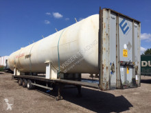 Citerne, cuve, tonne à eau - Gas, Gaz, LPG, GPL, Propane, Butane tank - on flatbed trailer ID 1.115