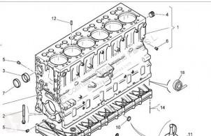 Motor bloğu Renault Premium Bloc-moteur pour camion Distribution 420.18