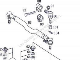 Biellette de direction OM Biellette de direction pour camion MERCEDES-BENZ Actros 4-Ejes 6-Cil. Serie/BM 4143 (8X8/4) 501 LA [12,0 Ltr. - 315 kW V6 Diesel ( 501 LA)]