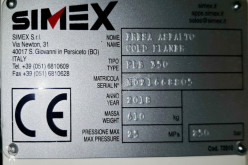 Преглед на снимките Пътностроителна техника Simex PLB350