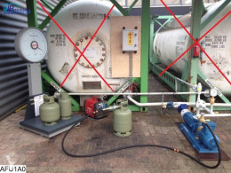 Material de obra bomba Pump CEHA 3106, Gas pump with scale and gas pipes