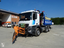 Mercedes snow plough-salt spreader
