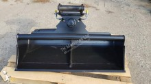 Equipamientos maquinaria OP Pala/cuchara TKmachines 120 cm Hydraulischer Grabenräumlöffel Baggerlöffel für Minibagger 0,8 - 2,0 Tonnen, Schaufeln